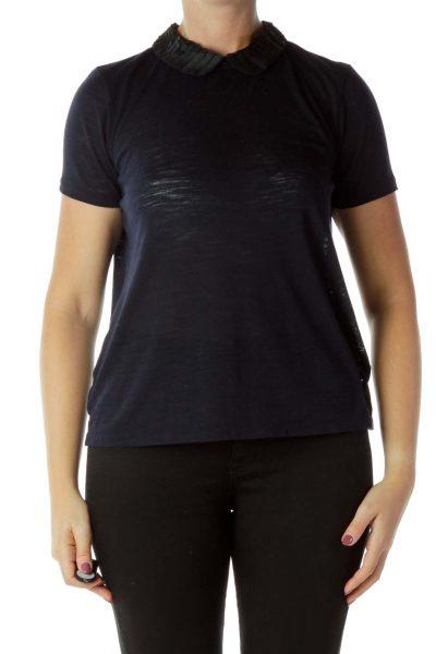 Navy Collared Shirt