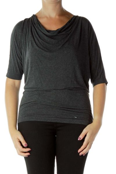 Gray Scoop Neck T-Shirt