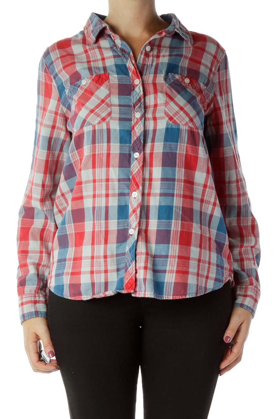 Red Blue Plaid Shirt