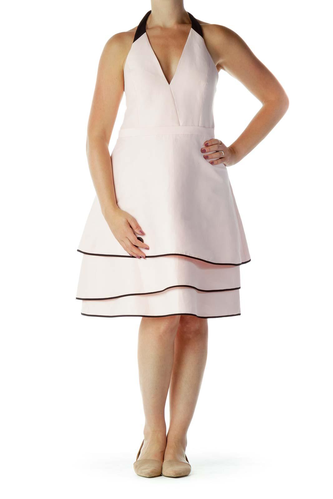 Pink & Black Halter Dress