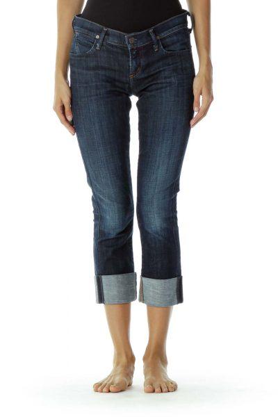 Denim Straight-Leg Jeans