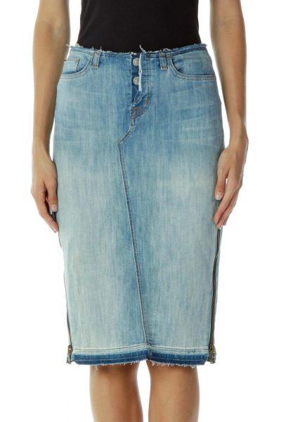 Denim Zippered Skirt