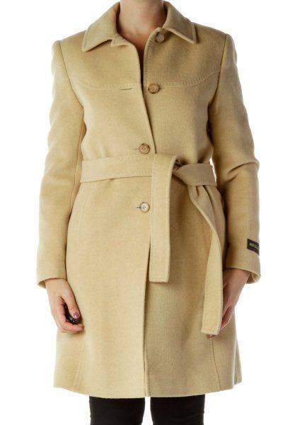 Beige Buttoned Jacket