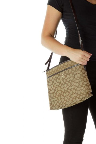 Brown Monogrammed Crossbody Bag