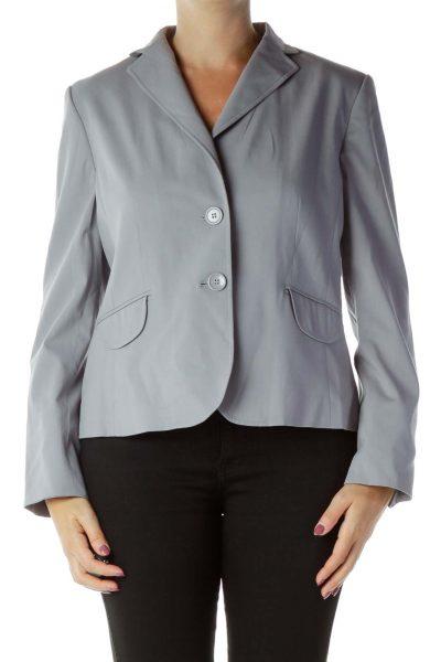 Purple Buttoned Blazer