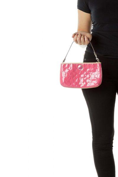 Pink Monogrammed Mini Shoulder Bag