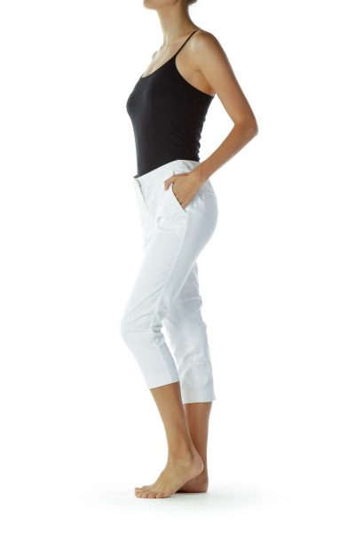 White Cropped Slacks
