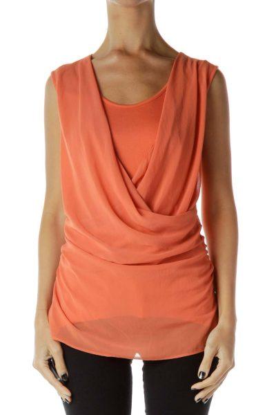 Orange Layered Tank Top