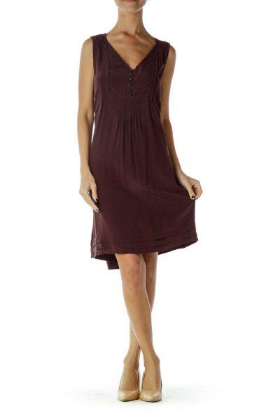 Burgundy Sleeveless Dress