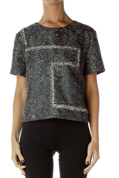 Gray Textured T-shirt
