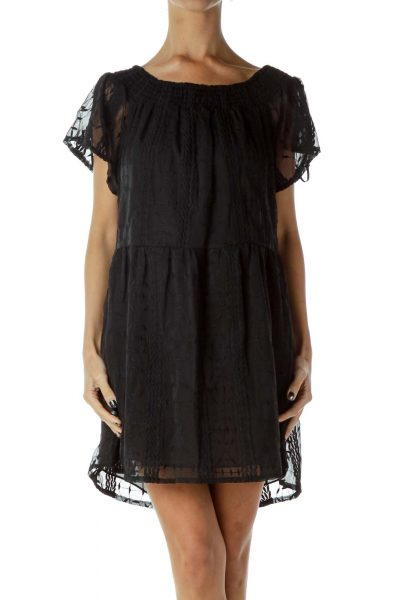 Black Off-Shoulder Cocktail Dress