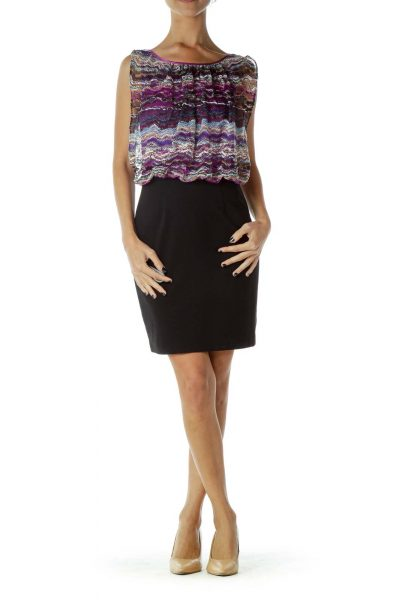 Purple Crocheted Day Dress