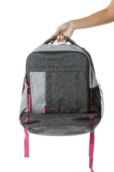 Gray Pink Mottled Backpack
