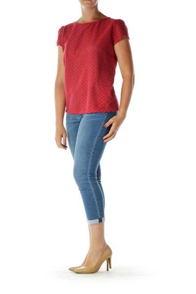 Red Cap-Sleeve T-Shirt