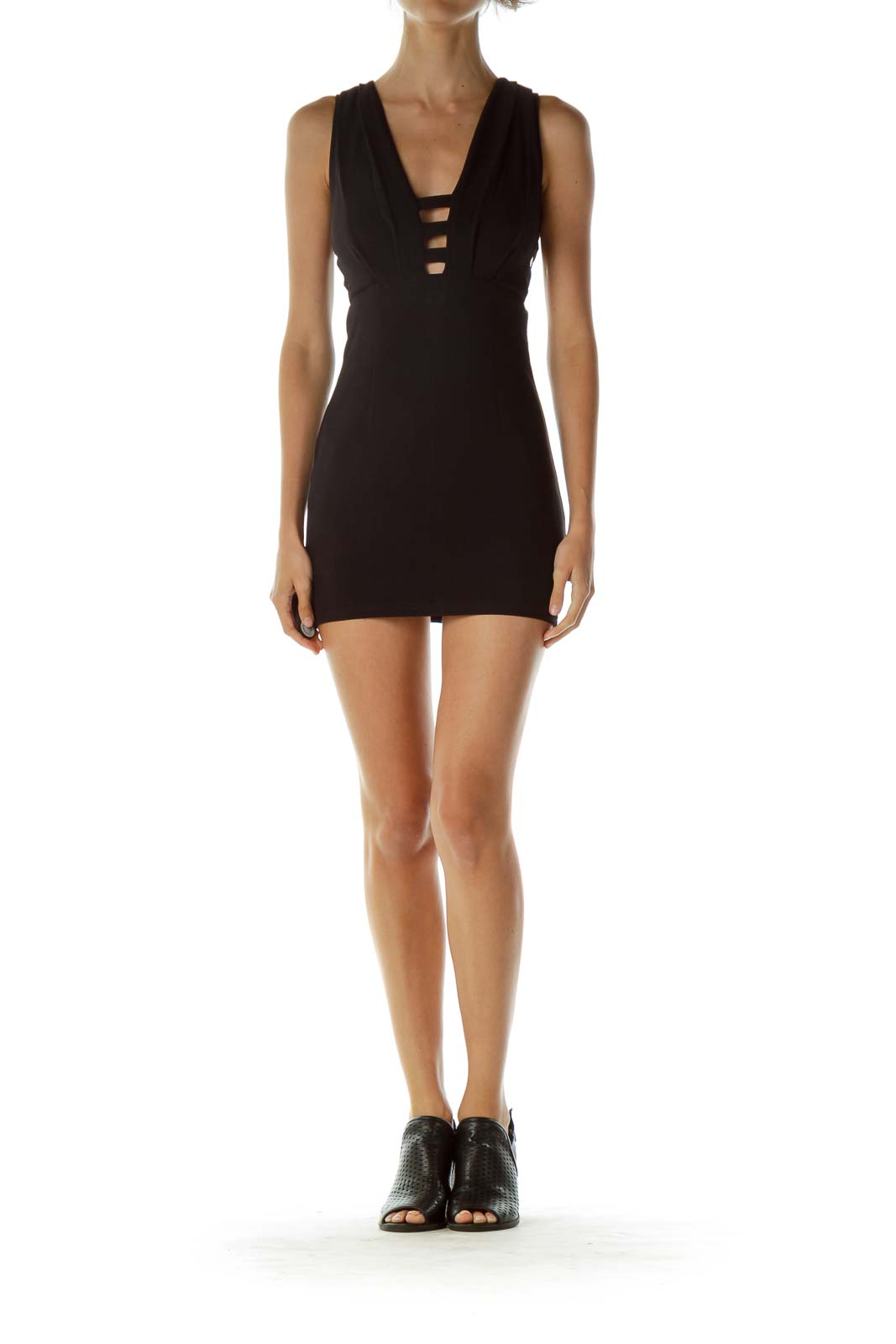 Black Cut-Out Sleeveless Dress