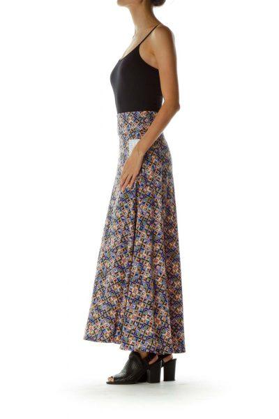 Multicolor Printed Maxi Skirt