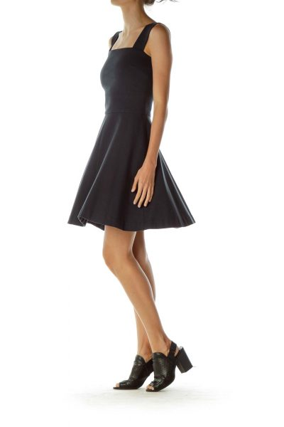 Navy Structured Dress