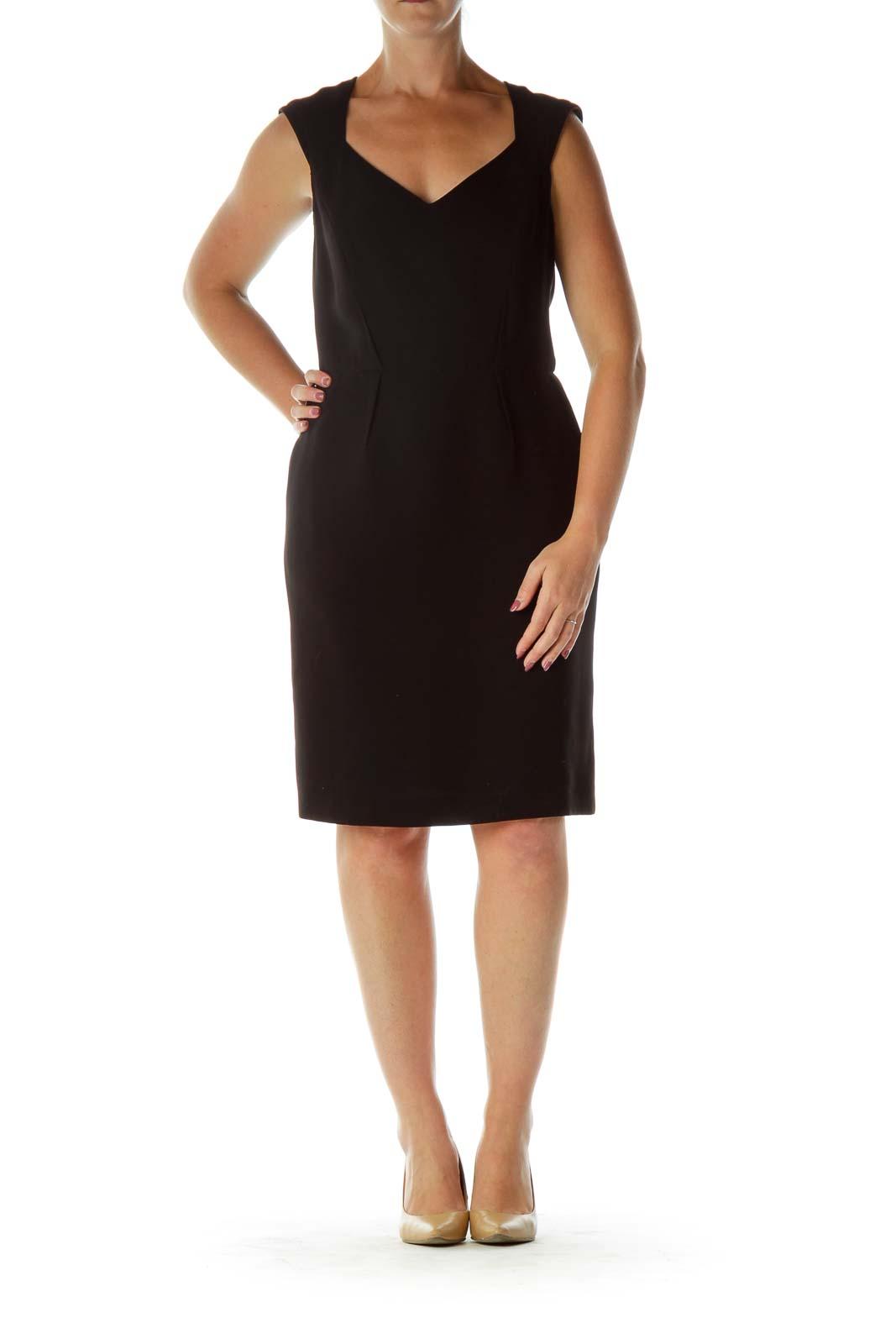 Black Structured Work Dress