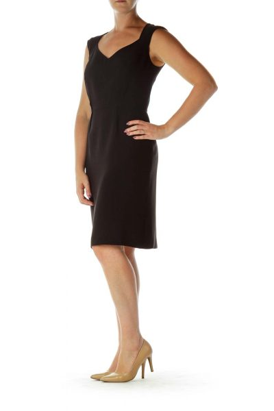 Black Structured Work Dress