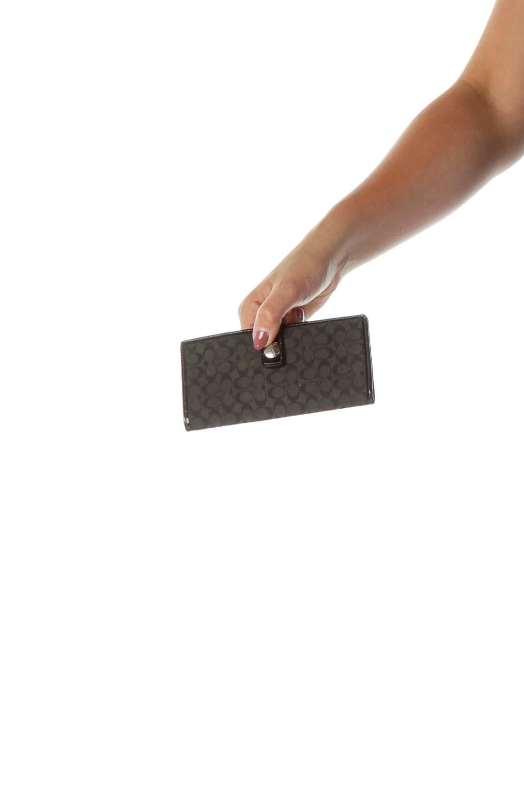 Black Monogrammed Wallet