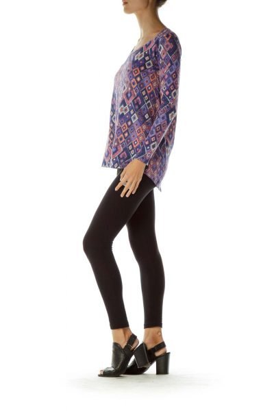 Purple Pink Printed Tunic