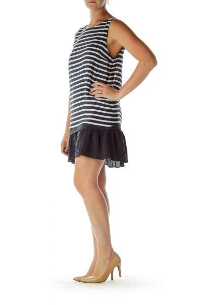 Navy White Striped Shift Dress