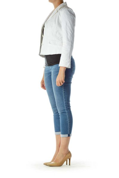 White Buttoned Blazer