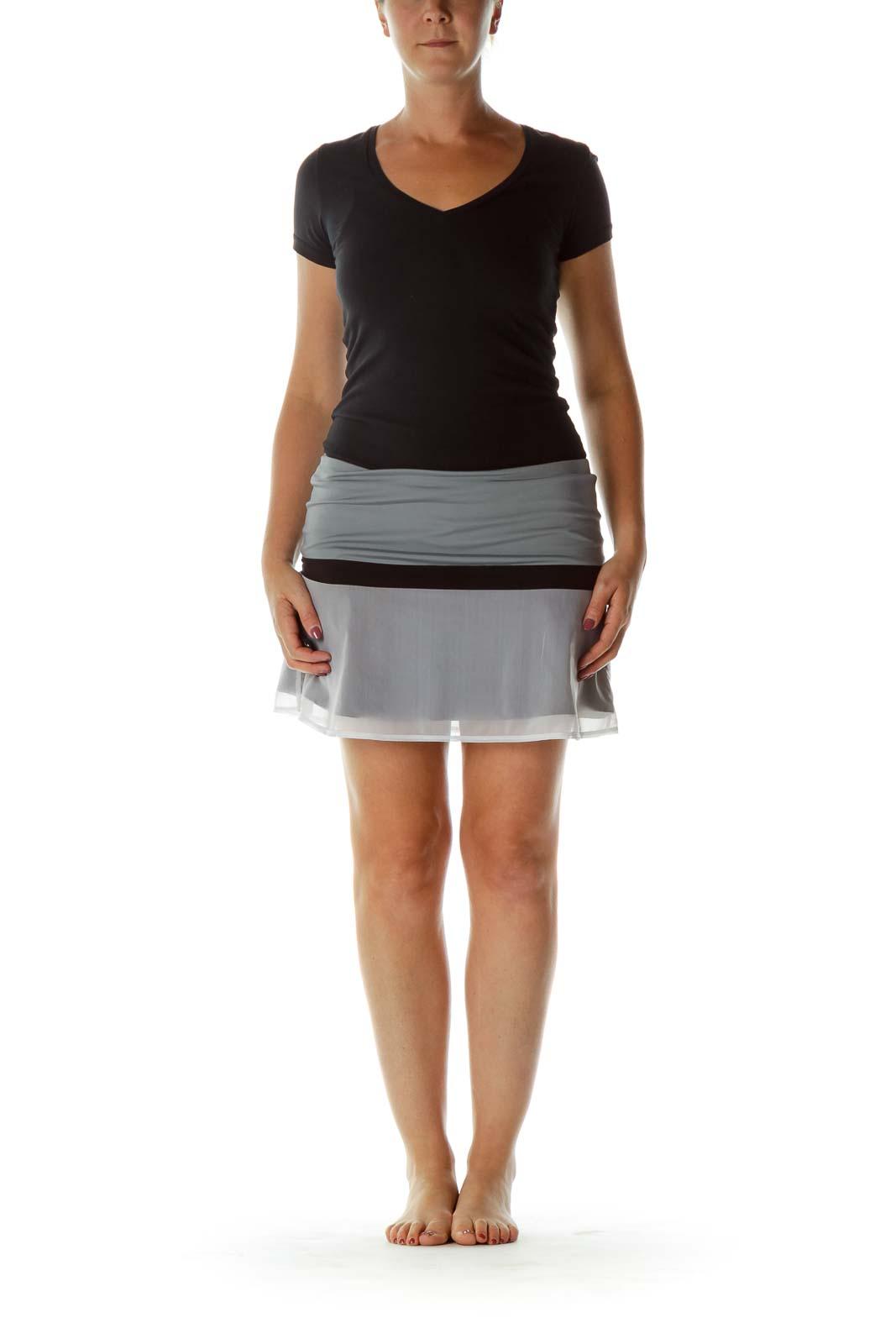 Gray Black Sports Skirt