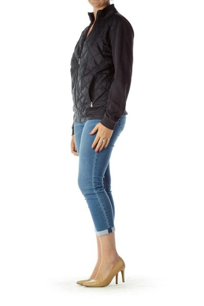 Navy Quilted Sports Jacket