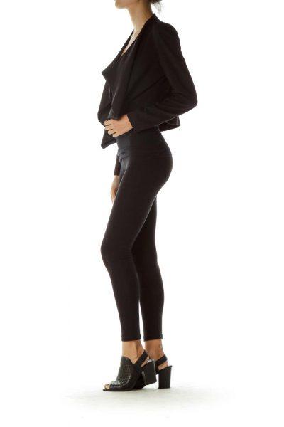 Black Open Long Sleeve Blazer