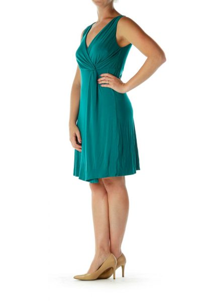 Teal Blue Day Dress
