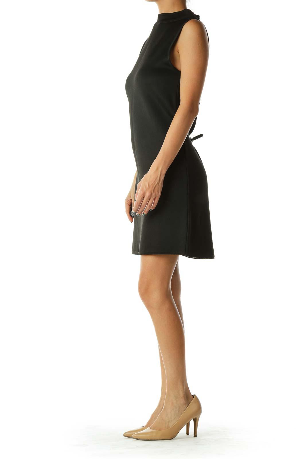 Black Mock Neck Dress