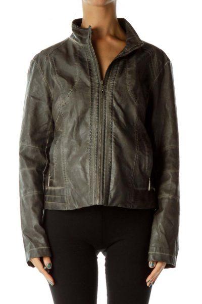 Gray Bomber Jacket