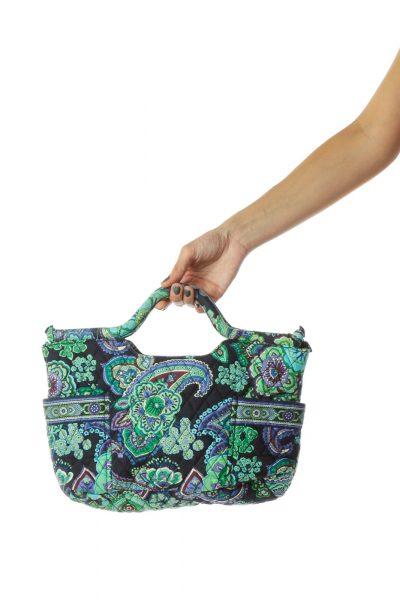 Green Blue Paisley Tote Bag