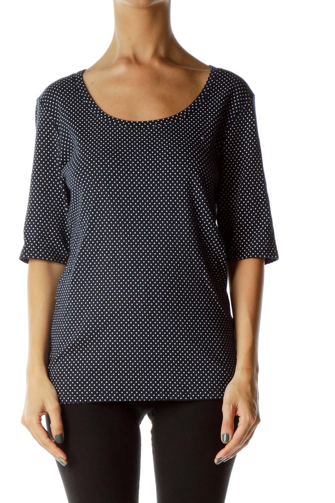 Black White Polka Dot T-Shirt