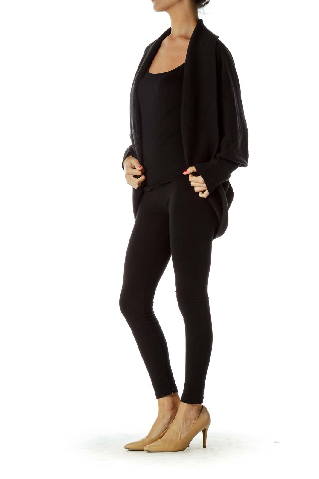 Black Knit Oversized Sweater
