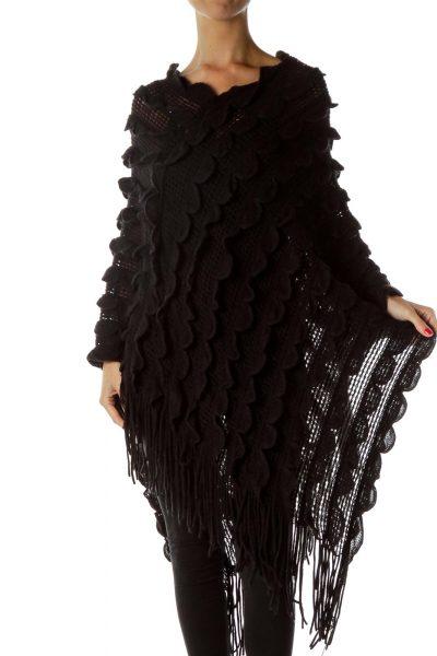 Black One Size Poncho