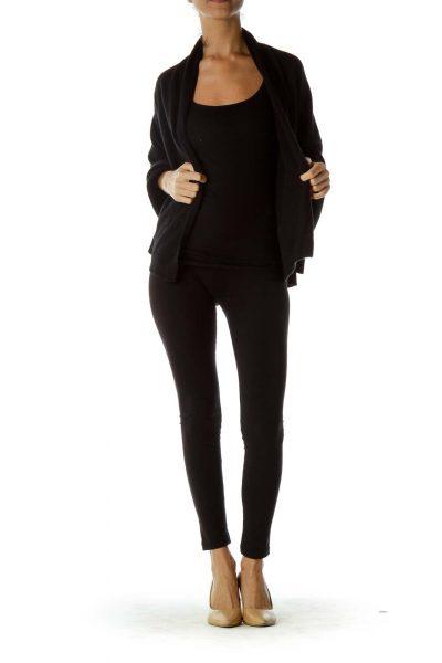 Black One Size Cashmere Cape