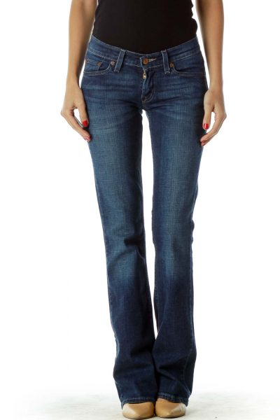 Blue Flared Jeans (Long)