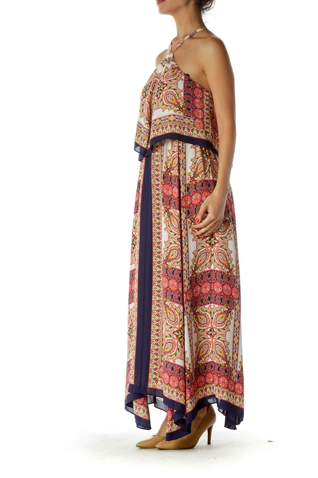 Multicolor Paisley Maxi Dress