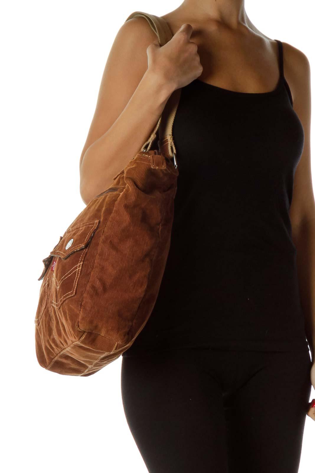 Brown Corduroy Tote Bag a2c1727010a83