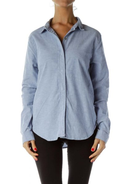 Blue Buttoned Activewear Jacket