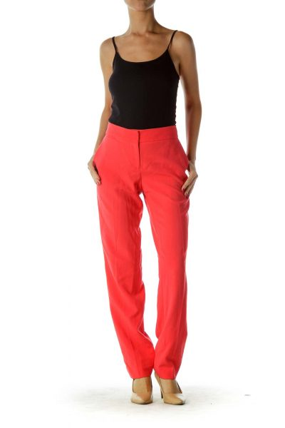 Coral Pink Tapered Pants