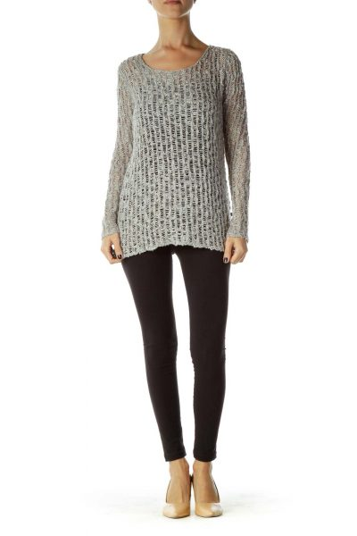 Gray Knit Sweatshirt