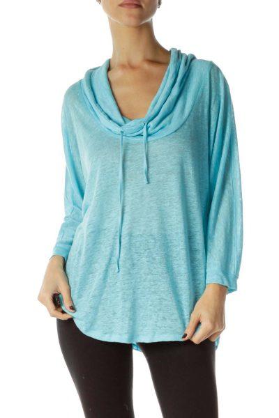 Blue Oversized Sweatshirt