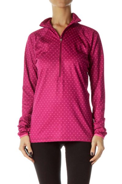 Pink Polka-Dot Sports Jacket