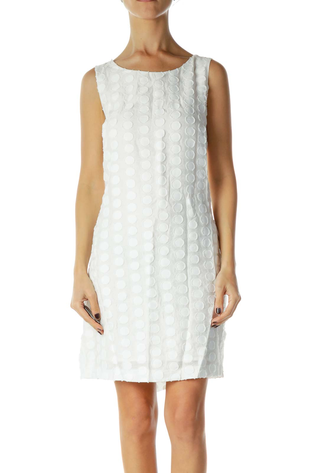 White Textured Day Dress