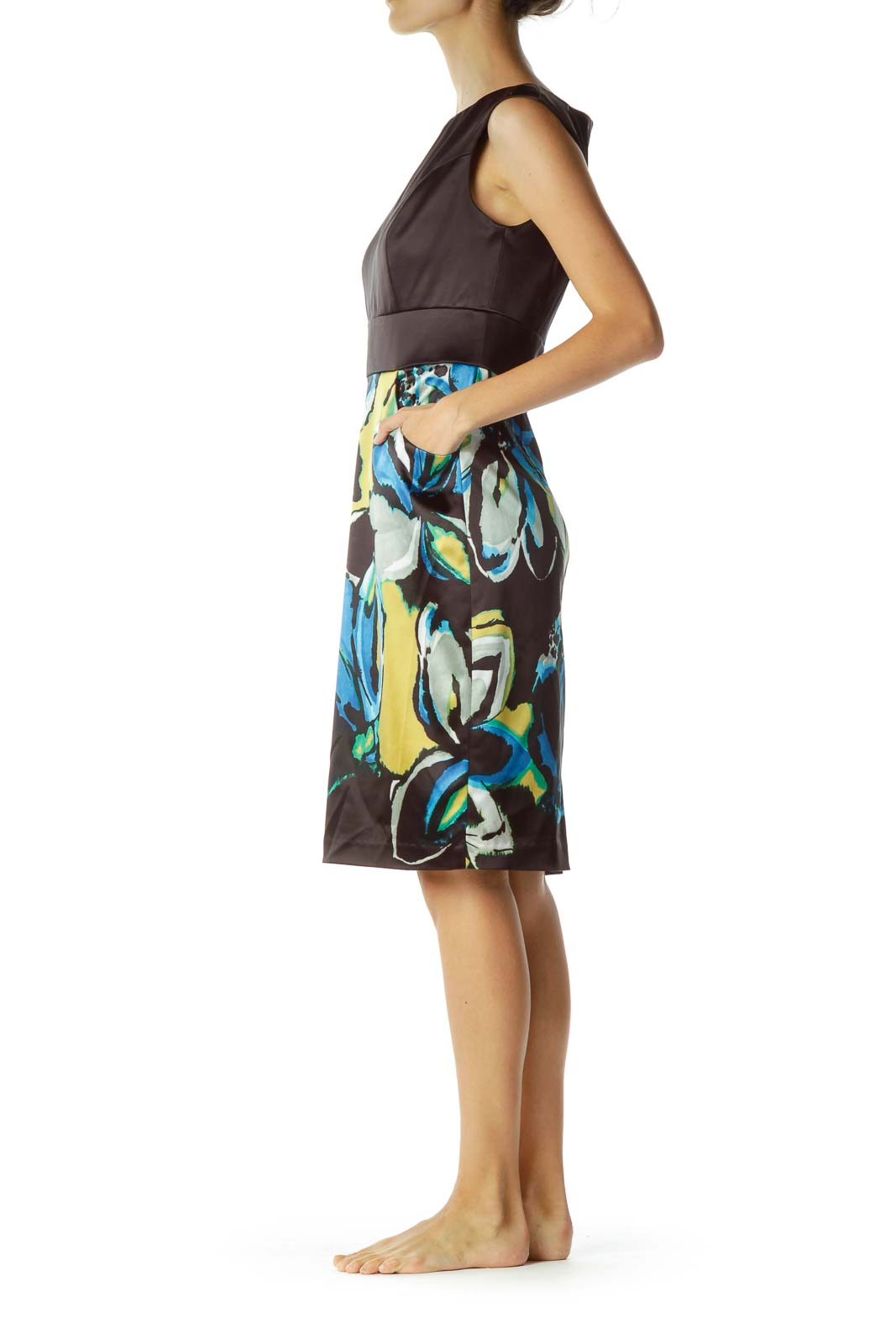 Black Multicolor Pencil Dress