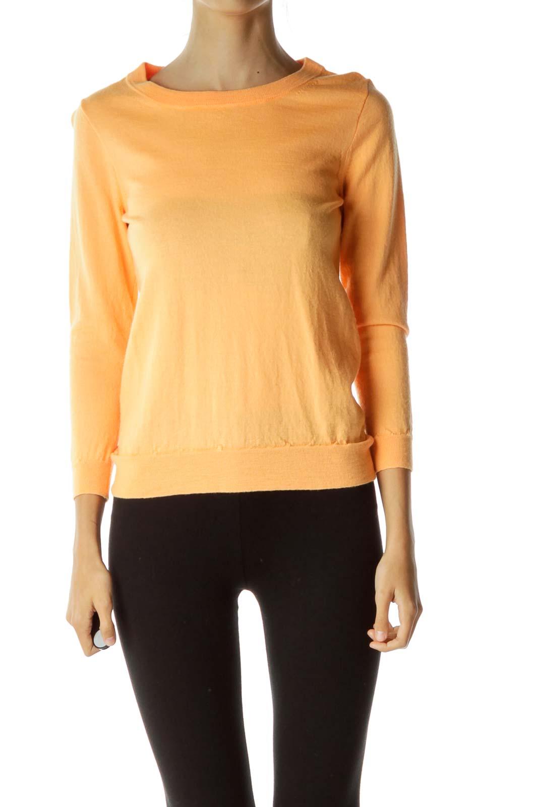 Orange Round Neck Sweater