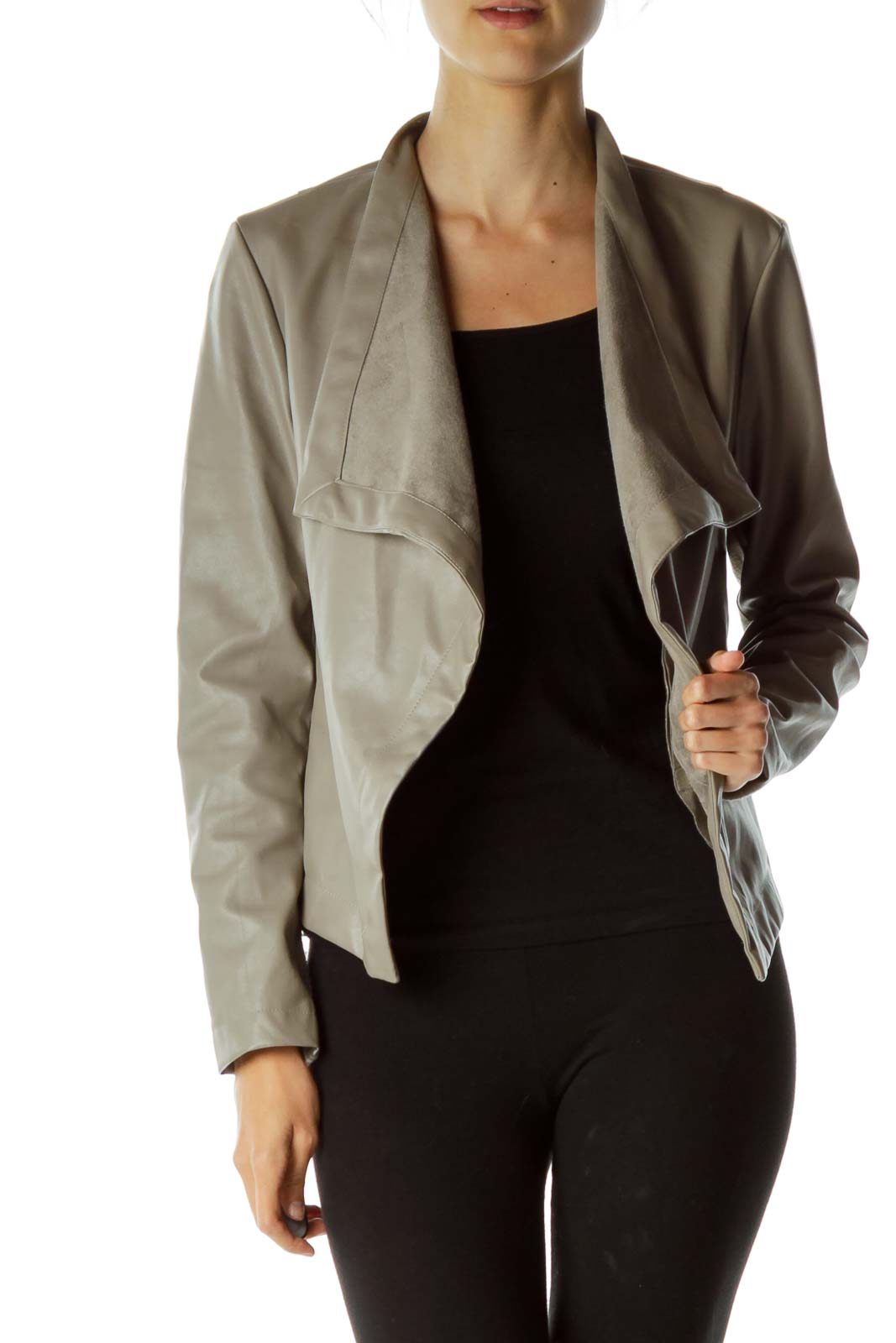 Gray Asymmetric Jacket